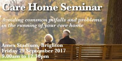 Care Home Seminar - Friday 29 September 2017