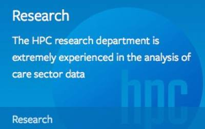 The HPC research department is extremely experienced in the analysis of care sector data