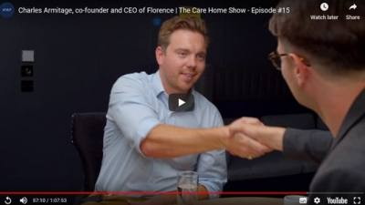 Care Home Show host Simon Parker interviews Charles Armitage - co-founder of Florence