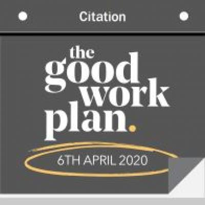 The Good Work Plan: upcoming employment law changes in April 2020 and beyond